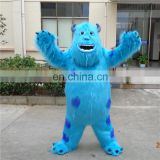 100% handmade hot sale customized sully mascot costume for adults