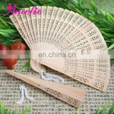 A80524 Natural Wholesale Sandalwood Fan Favors