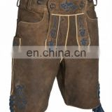 "Leather pants ""Lutz"" light Suede-Leather- Brown-Shorts-German-Bavarian-Lederhosen"