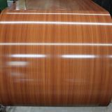 Galvalume pre-painted steel coil/sheet PPGL wood coated