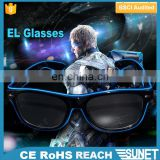 2018 hottest night and club party led flashing EL glasses with flashlight