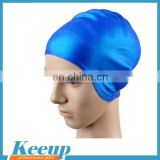 Novelty and professional printing branding logo and ear protected customized silicone swim cap