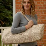 washable yoga mat bag with waterproof canvas fabric
