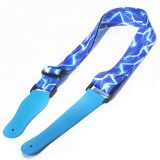 New fashion custom printing polyester guitar strap necklace lanyard for Music Learning