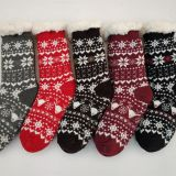 OEM China Factory Promotion Gift Socks Winter Socks Sherpa Lined For US Market