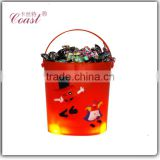 led christmas decorating candy backet wholesale gift baskets empty