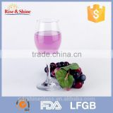 Wholesale red wine glass/clear drinking glass/crystal red wine glass