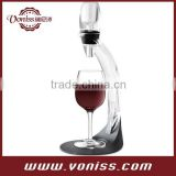 Magic Decanter Deluxe Aerator Set, Classical Wine Aerator Set With tower Stand,Utility model, Decanter Tower, white box