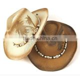 2015 Unisex Top quality foldable sun hats bulk straw cowboy hats Straw Beach Hat Sun
