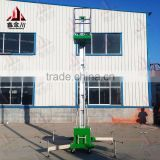 single mast aluminum mobile lift hydraulic table lift/ platform lift /hydraulic platform lift