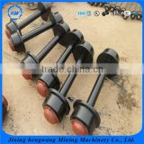 Customizable Portable Equipment Strength Loading Cast Iron Or Cast Steel Mine Car Wheel Set for sale