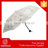 cheap wholesale manual open high quality 3 folding umbrella