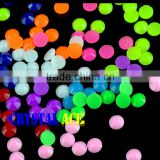 Cheap price iron on resin beads, coloful flatback hot-fix stone beads , jelly neon rhinestones for dresses
