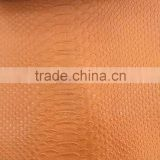 pvc artificial leather snake skin embosssed pattern pvc leather for bags stocklot pvc leather