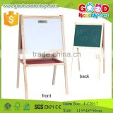 School educational dry earser drawing board kids non-toxic double side magnetic antique wooden easel