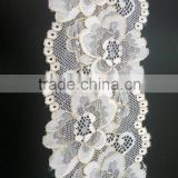 Small Lace Trim Jacquard Nylon Lace Fabric for Dress Decoration