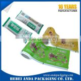 Disposable Feature Plastic Ice Cream Wrapper Film/ Popsicle Packaging Bag