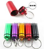 FDA Standard Customized Size Metal Mini Pill Holder Keychain