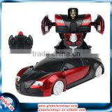1:24 transformable rc wall climber car, remote control wall climbing car toys with lights, one bottom to transform into a robot                                                                                                         Supplier's Choice