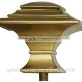 Model of Living Room Curtain Finials Modern Square Antique Brass Resin Finials Curtain Rods