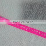 It's a girl pink print satin ribbon for gift decoration , cake box ,craft and hair clip