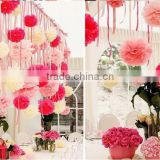10pcs 8 Inch Tissue Paper Artificial Flower Ball Poms Wedding Party Decor DIY Craft Decoration