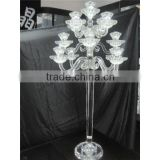 factory outlet K9 glass candelabra centerpiece