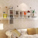 Wooden Display Cube CD Rack Wall Shelf DIY Square Wall Shelf Furniture                                                                         Quality Choice