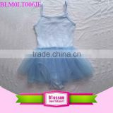 Infant Training Dance Wear blue Baby Leotards plain girl blank frock toddler sleeveless camisole ballet tutu dress girl leotard