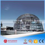 Promotion Light Long Span Steel Arch Structure Metal Structural Steel Dome Fast Building Gymnasium Construction with Drawing NEW