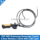 HD 720P Wireless WIFI 802.11 b/g/n 150Mbps Endoscope Video Inspection Snake Camera 3M 8.5MM Lens 1.0 Mega Pixles