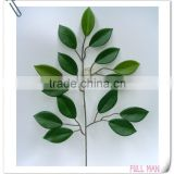 Factory Direct H54cm Green Artificial Silk Ficus Leaves