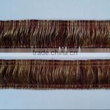 5cm popular Fashion Loop Fringe ,brush fringe with trim for sofa decor