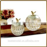 airtight glass jar for candle making and home decoration with metal lid