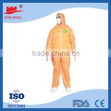 High Qualaity TYPE5/6 approved multi color single use breathable cheap non woven coverall