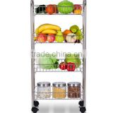 Kitchen fruit/drinks/vegetable display Stainless Steel cart