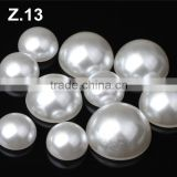 12-13mm White Cultured Freshwater Pearls Baroque Nugget Loose Beads 15 inches