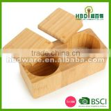 Buy High quality wood bamboo salt box, spice box for sale