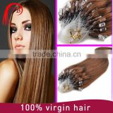 Direct hair factory big discount virgin double drawn full cuticle micro ring loop hair extensions