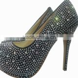 diamond high heel shoes elegant style sell well in 2016 LM-PU130