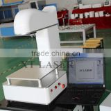 curved surface dynamic focus fiber laser marking machine with CE