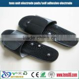 low price tens massage slipper /electronic foot massage slipper for rehabilicare tens unit