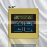 Good Quality IVOR 220V Central Air-Conditioner Thermostat Digital AC Thermostat Switch SK-AC2300T Champagne Gold PC Frame