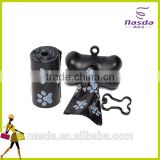Plastic Cores Garbage Pet Waste Poop Refills Bags on 2 Rolls with Free Dog Shaped Dispenser