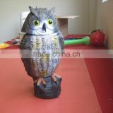 OEM Blow Molding Plastic owl garden decoration Bird Repeller Plastic Owl Huizhou factory