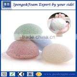 2016 Wholesale 100% natural organic facial and shower Japan konjac sponge for baby