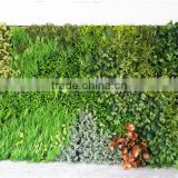 Home and outdoor decoration synthetic cheap artificial vertical green grass wall E08 04B17