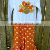 Thanksgiving baby layette exquisite new design embroidery suit importing baby clothes from china