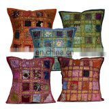 Embroidered Patchwork Cushion Covers Decorative Patchwork Pillow Cover