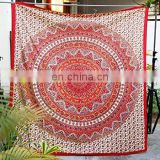 Indian Handmade Round Mandala Tapestry Printed Beach Throw